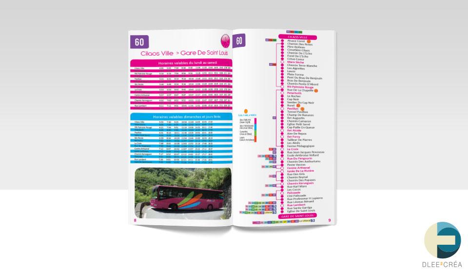 livret Guide Touristique de Cilaos ouvert