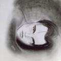 Léonardo Dicaprio – Fusains, stylo gel blanc